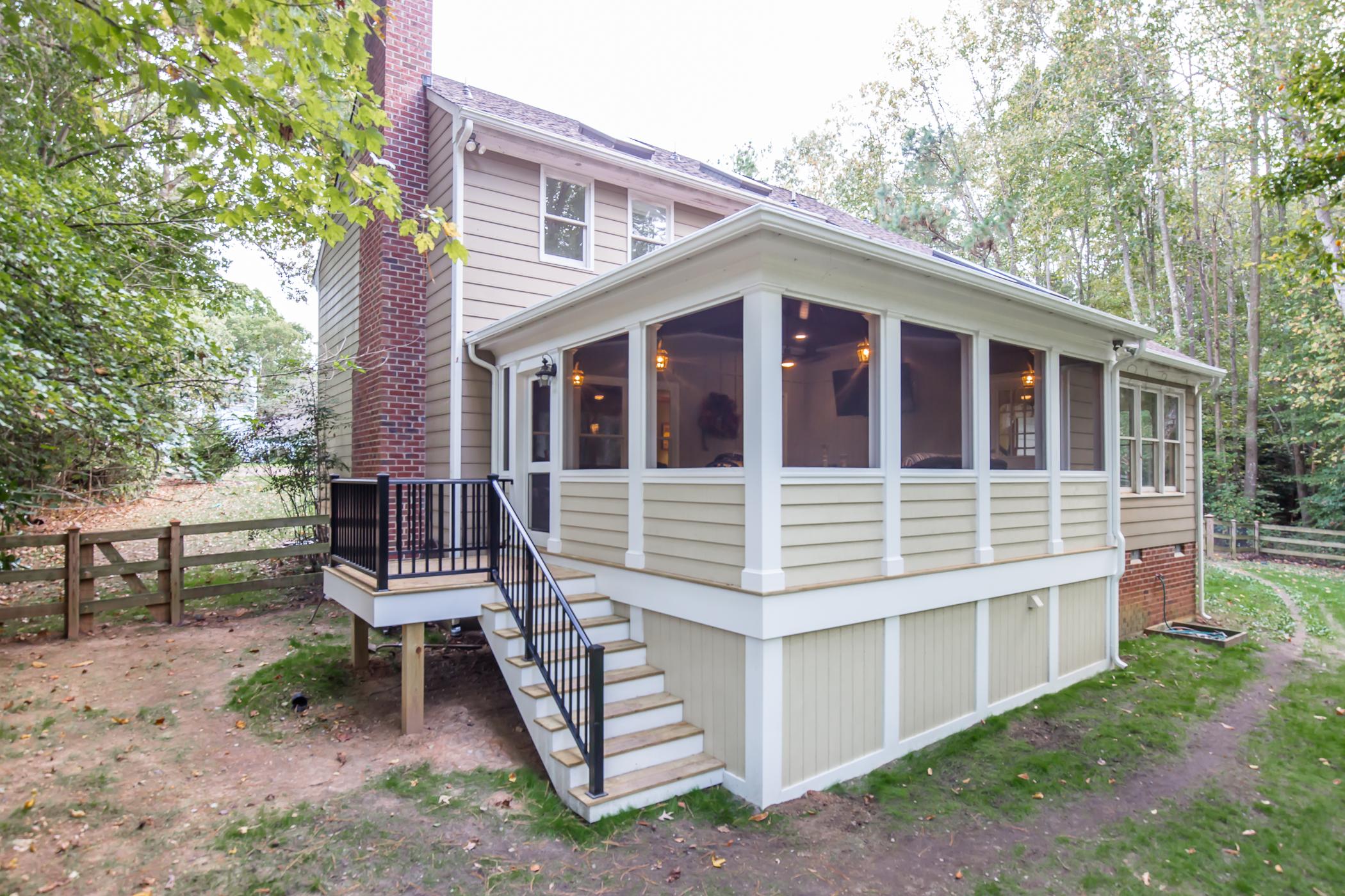 Country Style Screened Porch In Chesterfield Va Rva