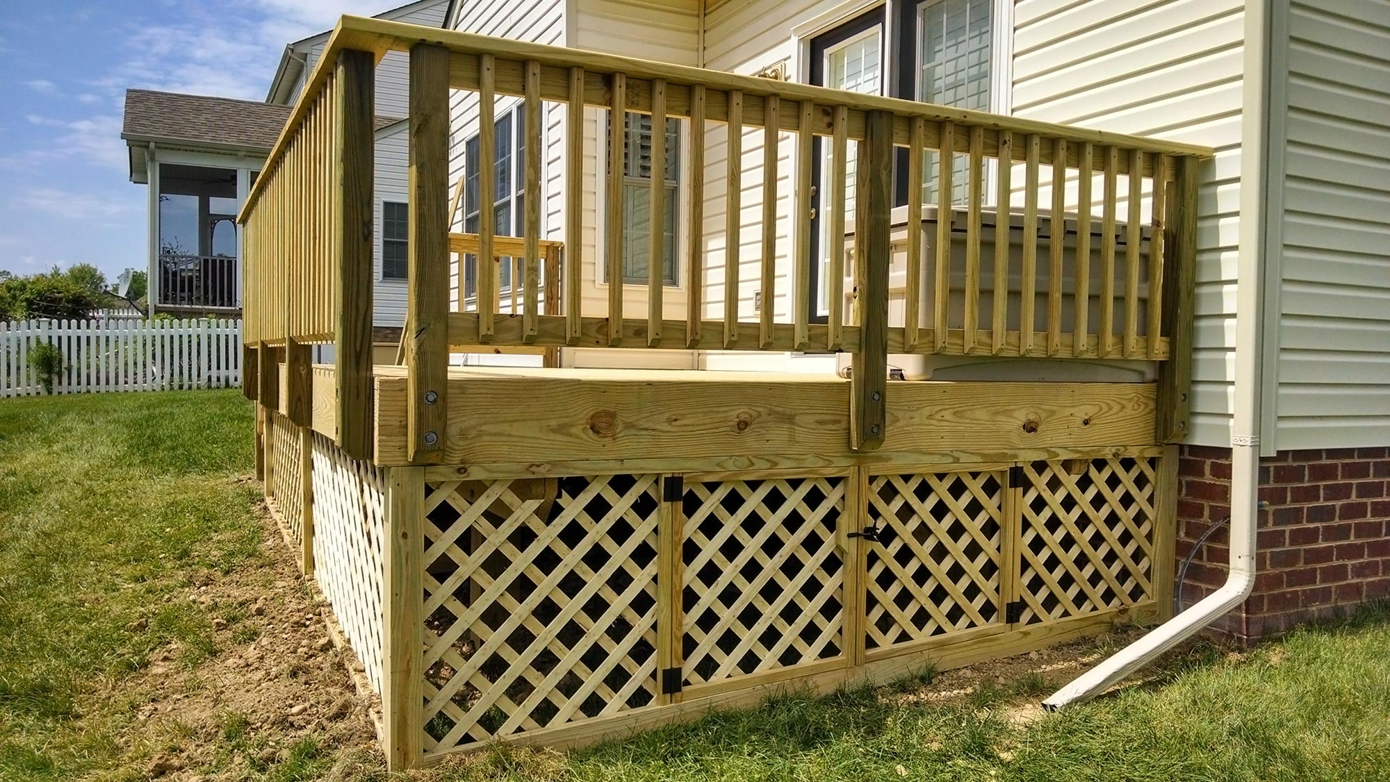 Deck and storage shed midlothian rva remodeling llc for Shed deck plans