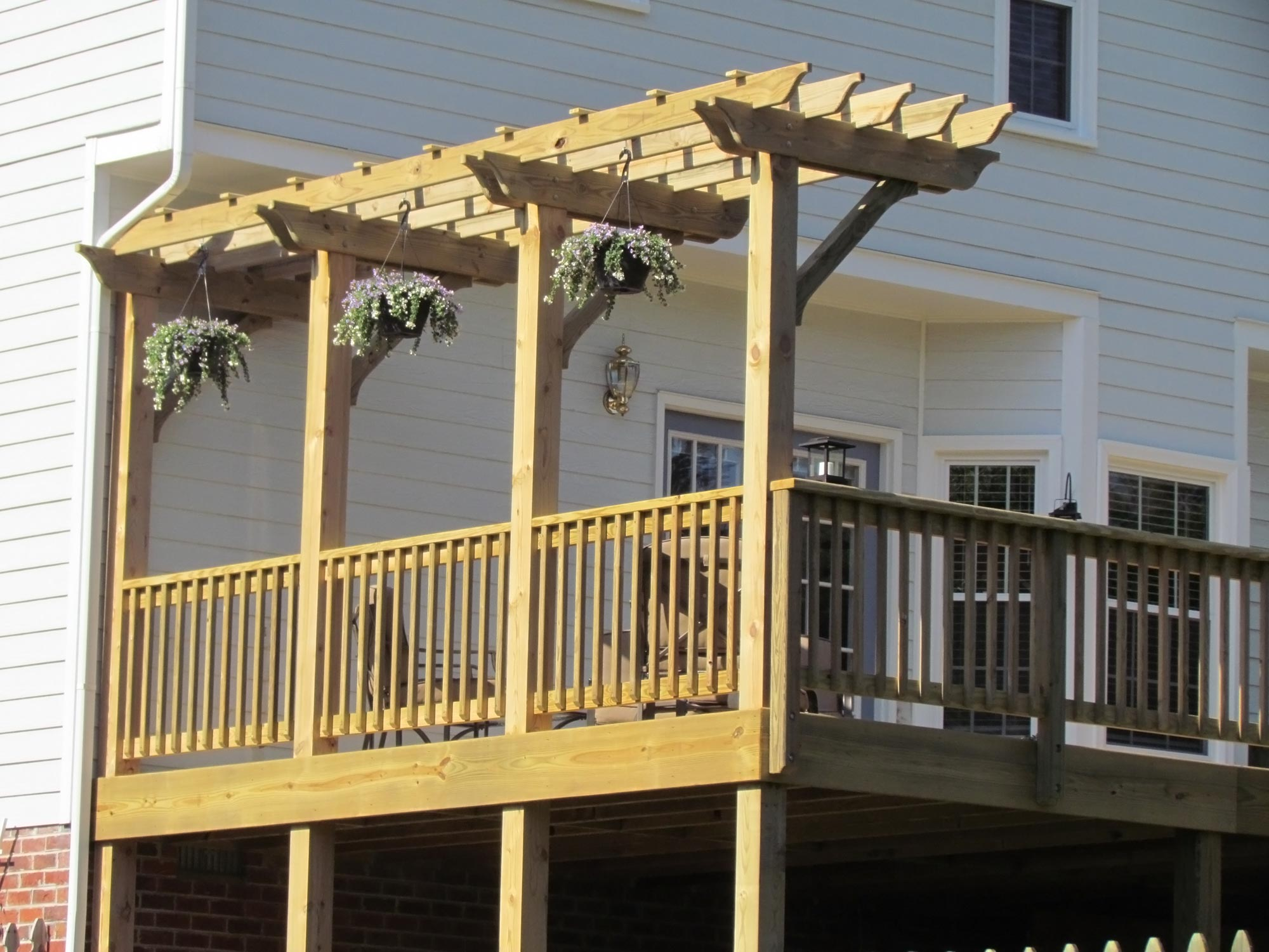 deck with pergola midlothian rva remodeling llc. Black Bedroom Furniture Sets. Home Design Ideas