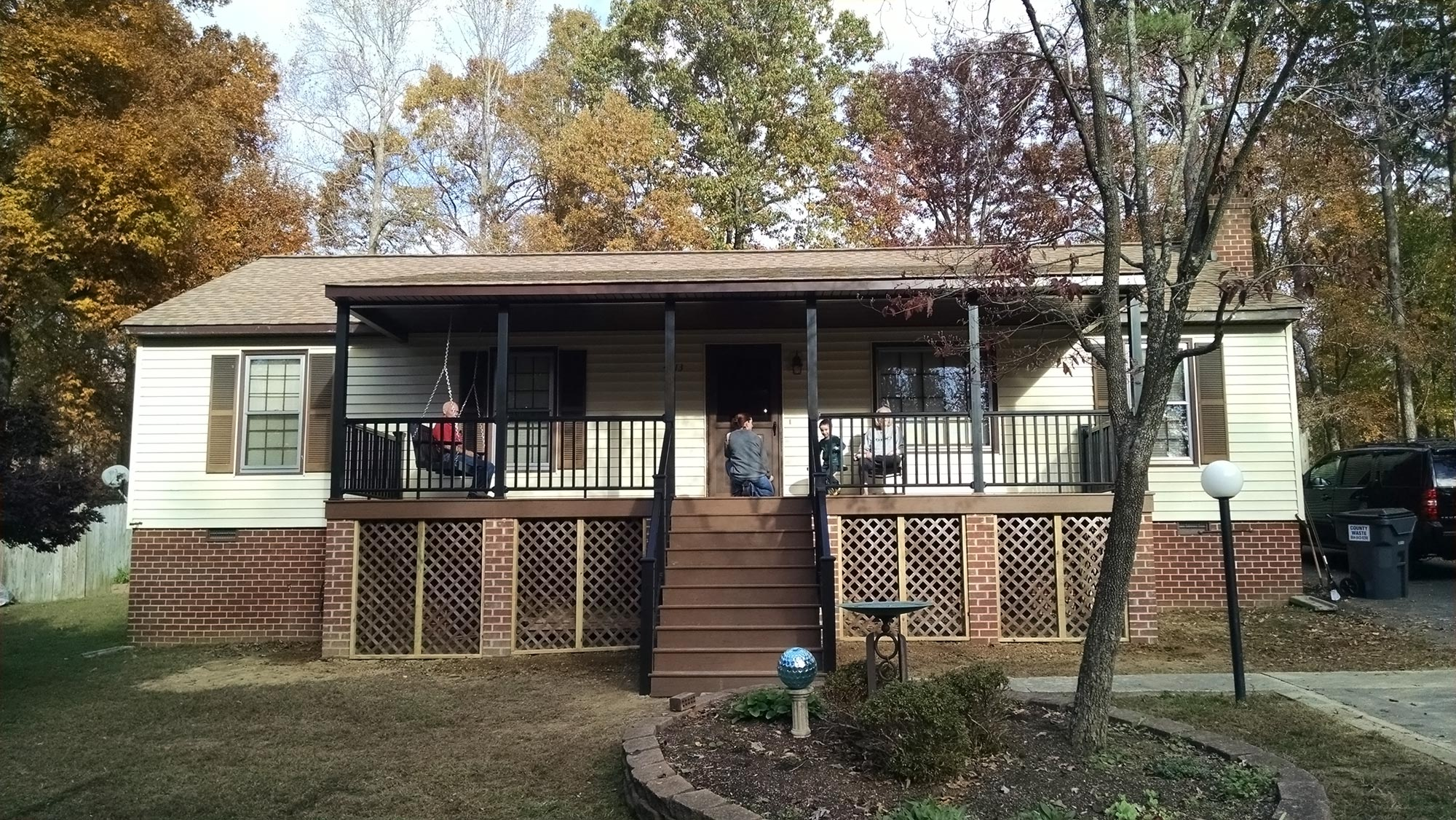 Front porch addition chesterfield