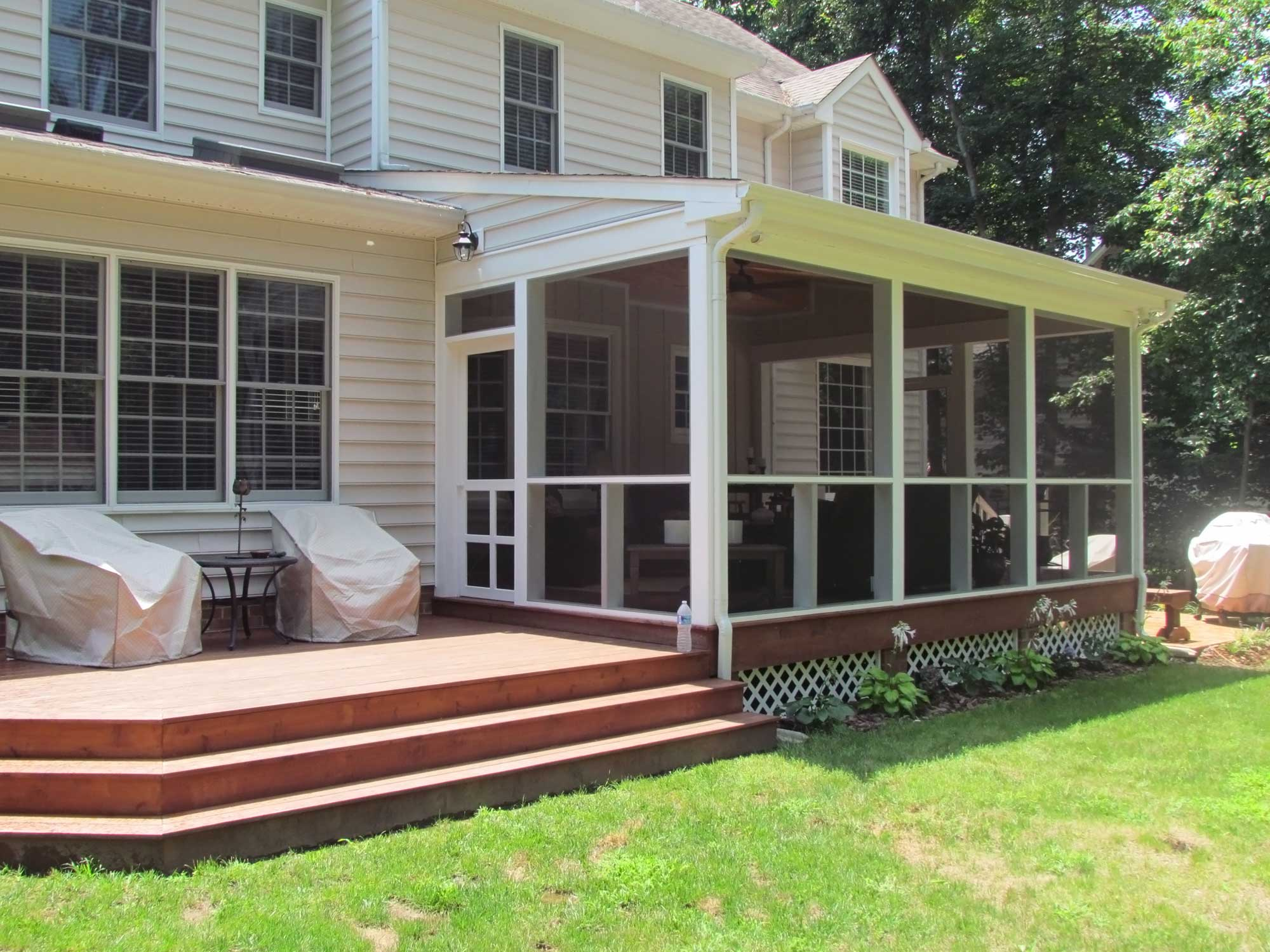 Covered porch in midlothian va rva remodeling llc for House with covered porch