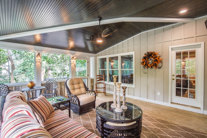 Front Porch Uk >> Country Style Screened Porch in Chesterfield VA | RVA Remodeling LLC