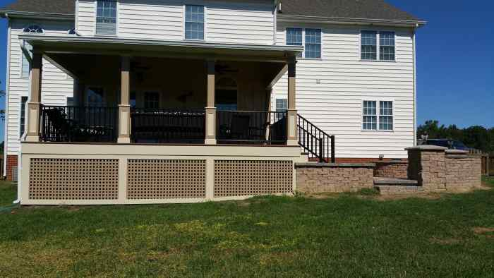 Porch Addition Remodeling Job in Hanover VA 10